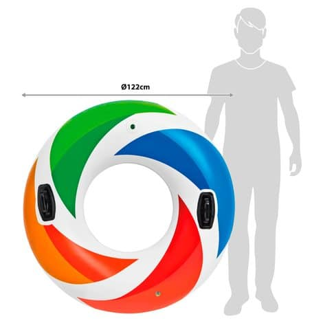 Bóia Colorida Color Whirl Tube #50817