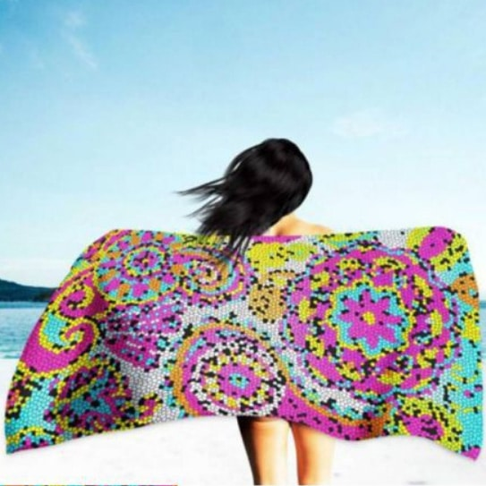 Toalha de Praia Microfibra Gaudi 180 x 100 cm