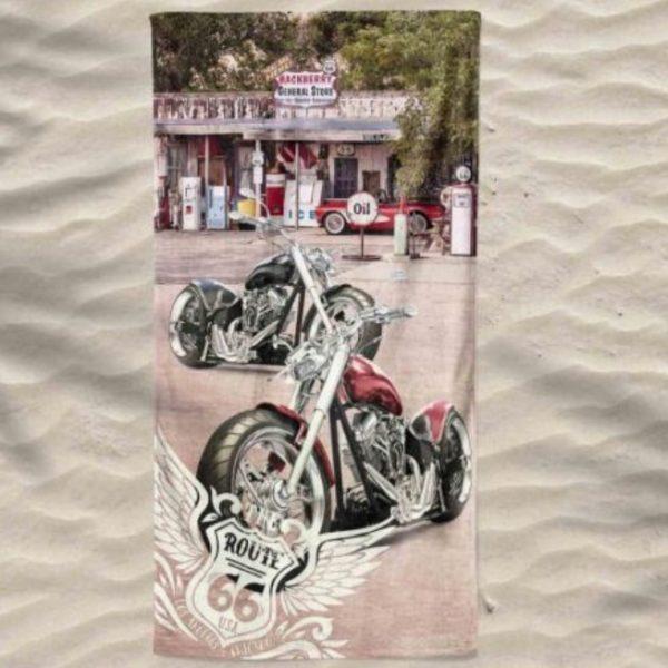 Motorcycle Harley Davidson Microfiber Beach Towel 180 x 100 cm