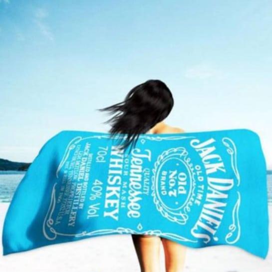 Blue White Traditional Jack Daniels Microfiber Beach Towel 180 x 100 cm