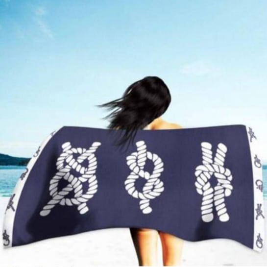 Sailor Knot Microfiber Beach Towel 180 x 100 cm