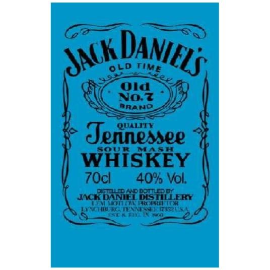 Toalha de Praia Microfibra Jack Daniels Azul-Preto Fluorescente 180 x 100 cm