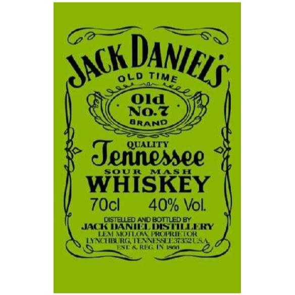 Toalha de Praia Microfibra Jack Daniels Verde-Preto Fluorescente 180 x 100 cm