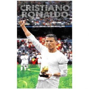 Toalha de Praia Microfibra Cristiano Ronaldo Bota de Ouro 180 x 100 cm