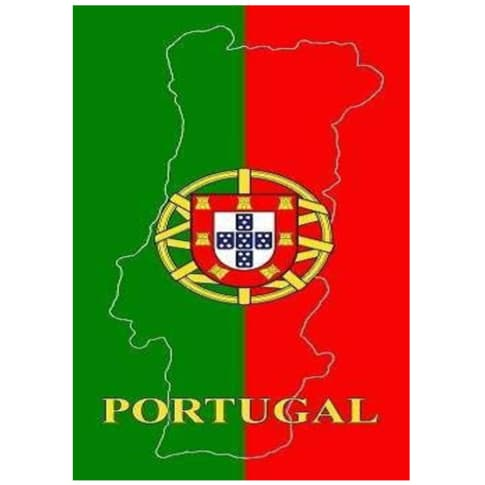 Toalha de Praia Microfibra Bandeira + Mapa de Portugal 180 x 100 cm