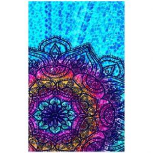 Toalha de Praia Microfibra Mandala Colorida 180 x 100 cm
