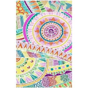 Toalha de Praia Microfibra Mandala Colorida 2 180 x 100 cm