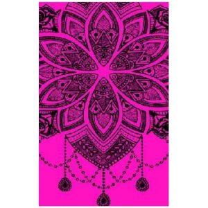 Toalha de Praia Microfibra Mandala Rosa 180 x 100 cm