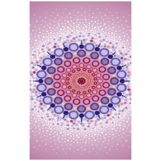 Toalha de Praia Microfibra Mandala Círculos 180 x 100 cm