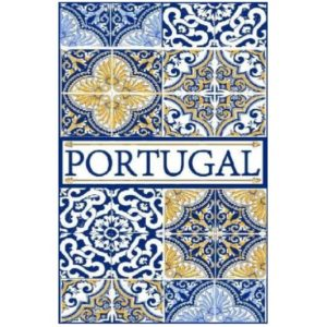 Toalha de Praia Microfibra Azulejos Portugal 180 x 100 cm
