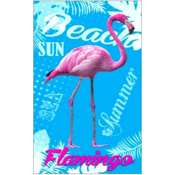 Toalha de Praia Microfibra Flamingo Summer 180 x 100 cm