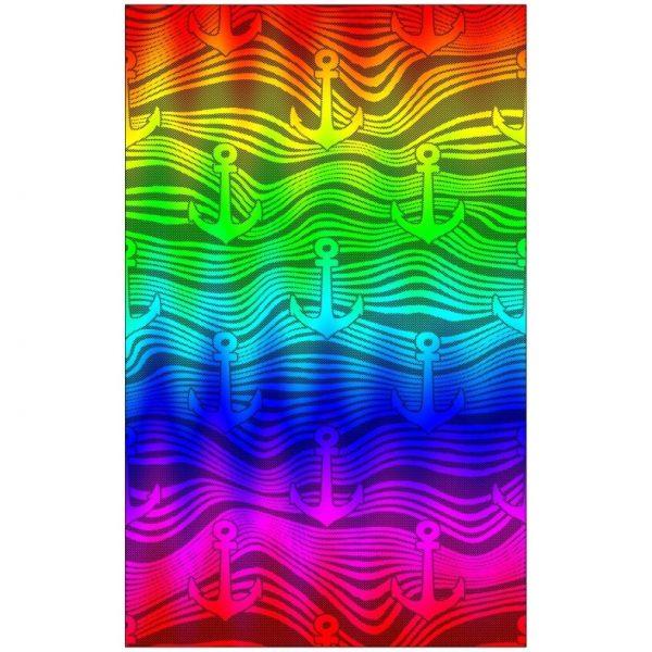 Toalha de Praia Microfibra Âncoras Coloridas 180 x 100 cm