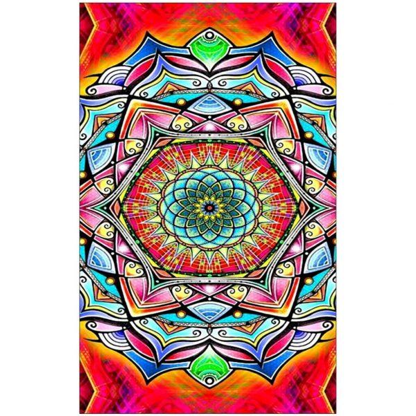 Toalha de Praia Microfibra Mandala Multicolorida 180 x 100 cm