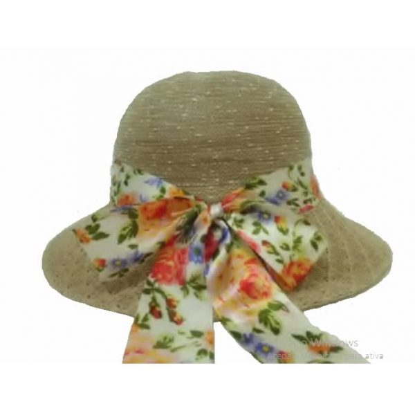 Polyester Lady's Hat with Ribbon 57 cm