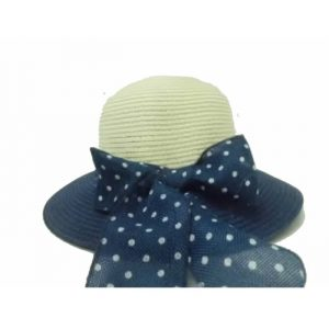 Lady's Hat with Ribbon Dots