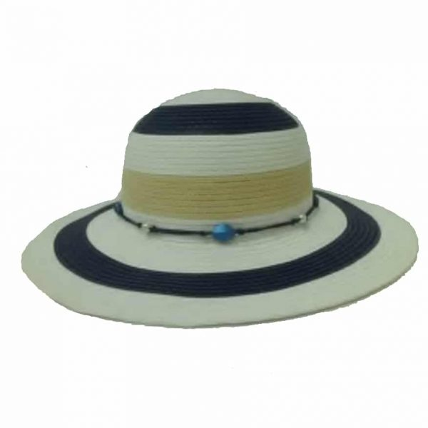 Lady's Capeline Large Striped with Stones