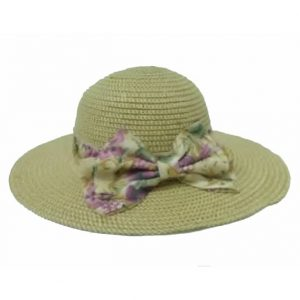 Women's Capeline with Tinted Ribbon with Flower Bow