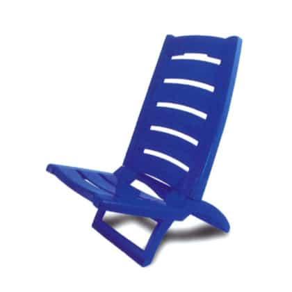 Cadeira Praia de Plástico Azul