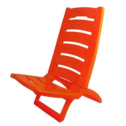 Cadeira Praia de Plástico Vermelha