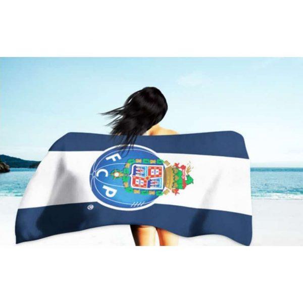 Toalha de Praia Microfibra Licenciada FC Porto 180 x 100 cm