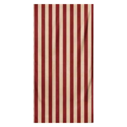 Microfiber Striped Beach Towel - Red and Beige