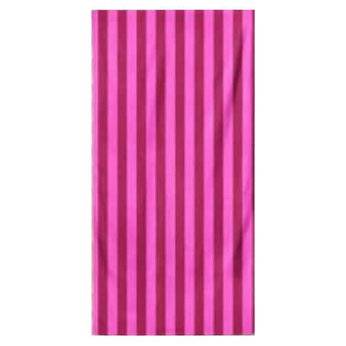 Microfiber Striped Beach Towel - Dark Pink and Light Pink