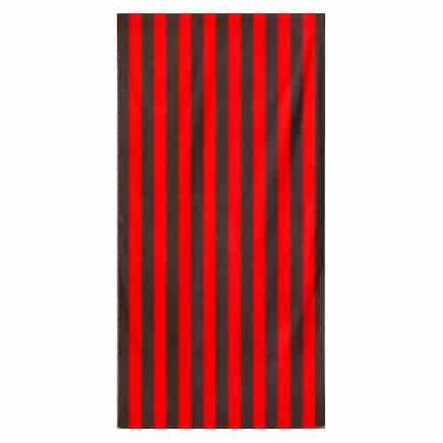 Microfiber Striped Beach Towel - Red and Black