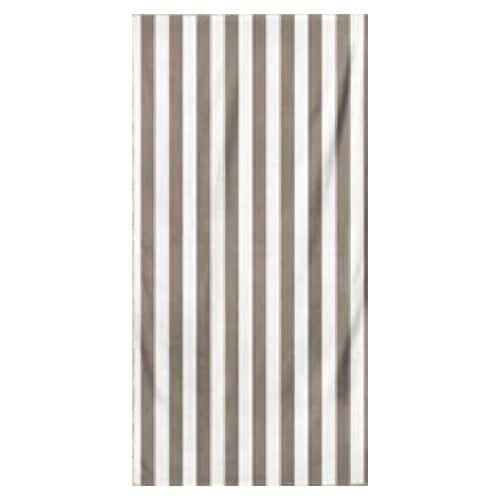Microfiber Striped Beach Towel - Beige and White