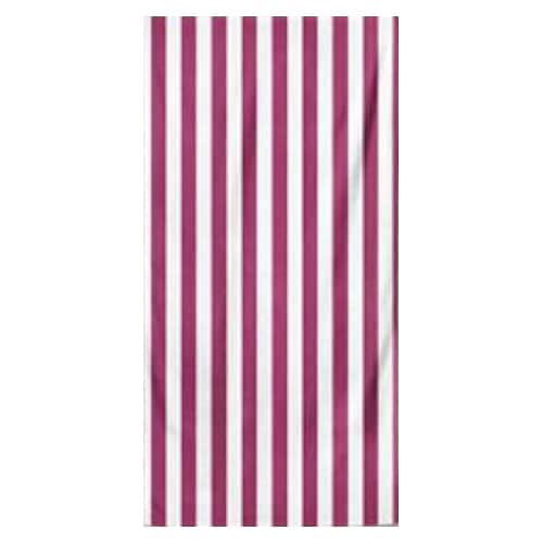 Microfiber Striped Beach Towel - Lilac and White