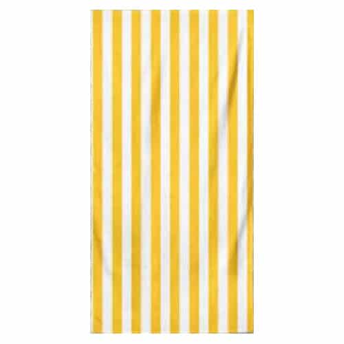 Microfiber Striped Beach Towel - Yellow and White