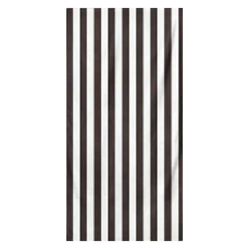 Microfiber Striped Beach Towel - Black and White