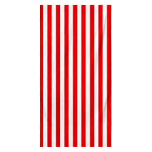 Microfiber Striped Beach Towel - Red and White