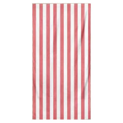 Microfiber Striped Beach Towel - Light Pink and White