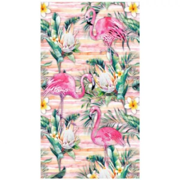 Toalha de Praia Microfibra Flamingos 180 x 100 cm