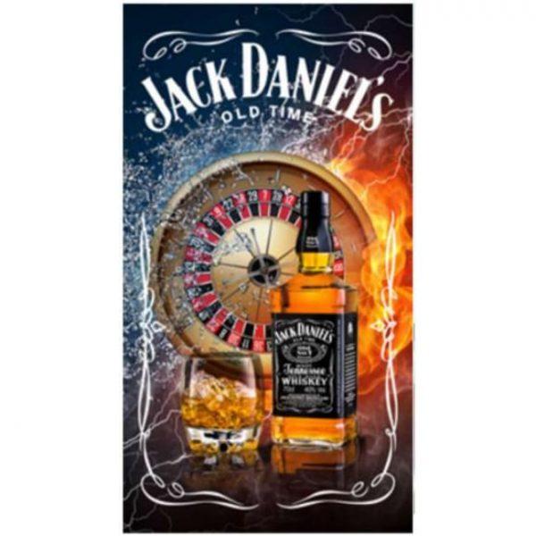 Toalha de Praia Microfibra Jack Daniels Casino 180 x 100 cm