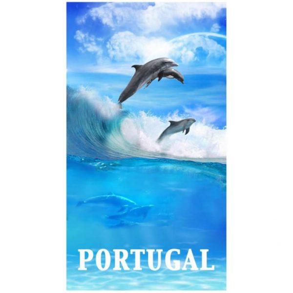 Toalha de Praia Microfibra Golfinhos Portugal 180 x 100 cm