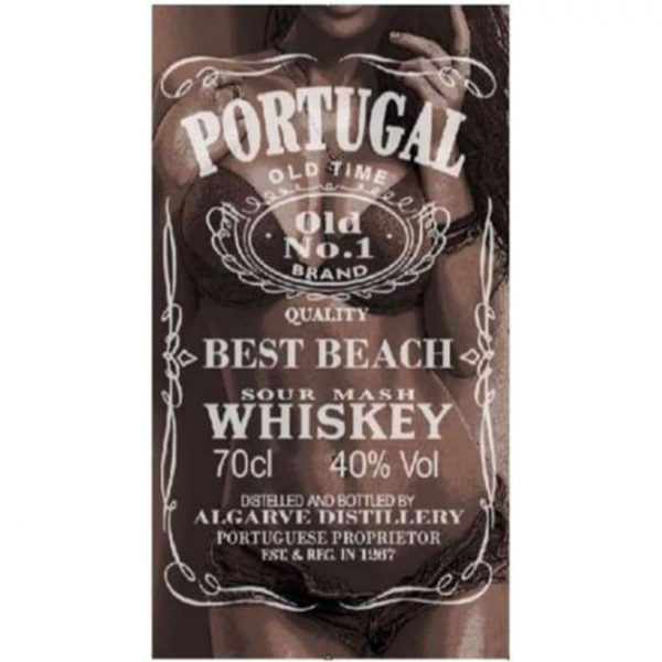 "Toalha de Praia Microfibra Jack Daniels ""Portugal"" Mulher 180 x 100 cm"