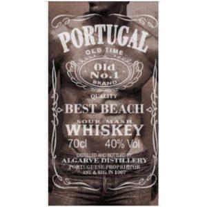 "Toalha de Praia Microfibra Jack Daniels ""Portugal"" Homem 180 x 100 cm"