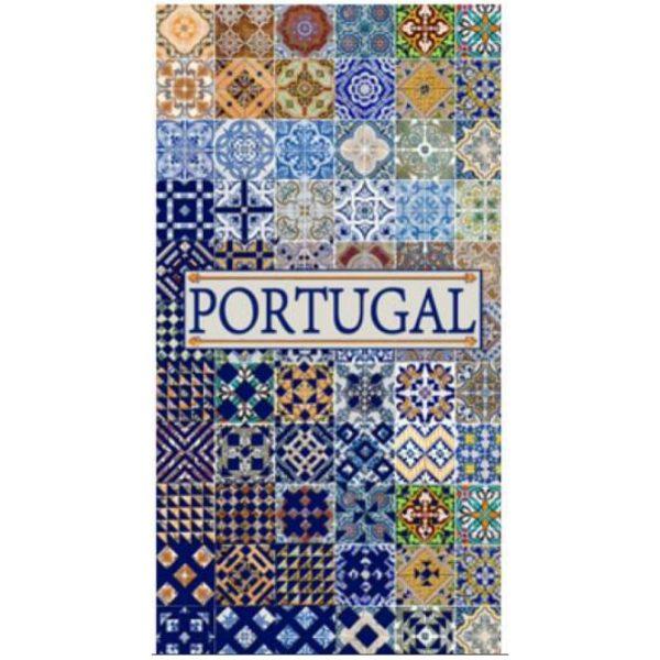 Toalha de Praia Microfibra Azulejos Portugal 3 180 x 100 cm