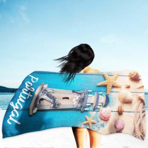 Portugal Beach House Microfiber Beach Towel