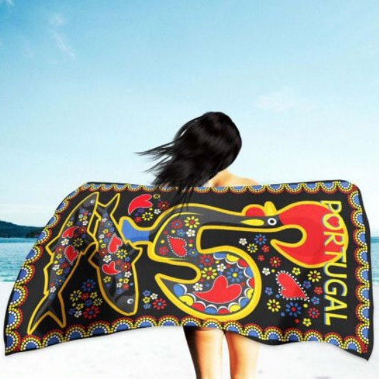Cock of Barcelos Microfiber Beach Towel 180 x 100 cm