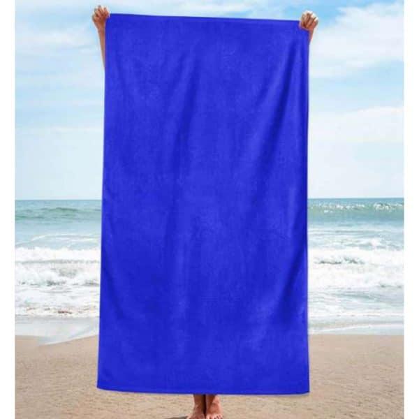Toalha de Praia Algodão Lisa Azulão