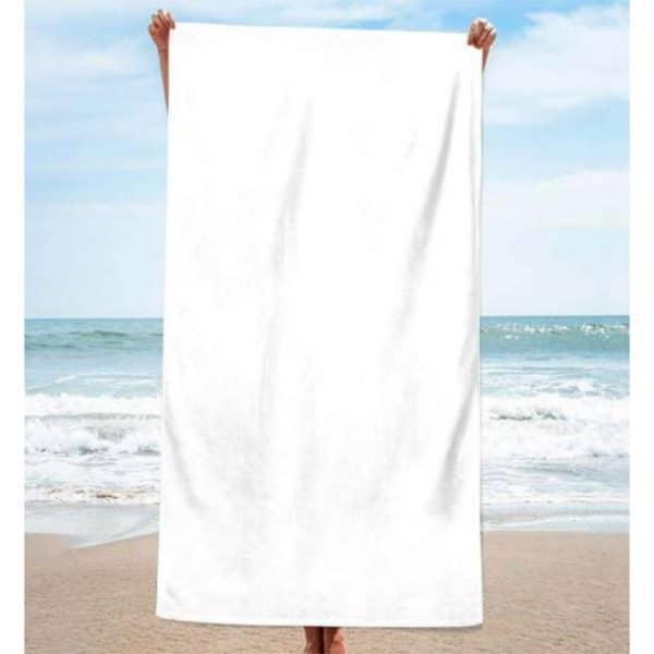 Toalha de Praia Algodão Lisa Branca