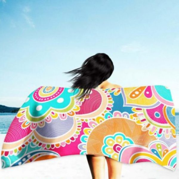 Colorful Mandalas Microfiber Beach Towel 180 x 100 cm