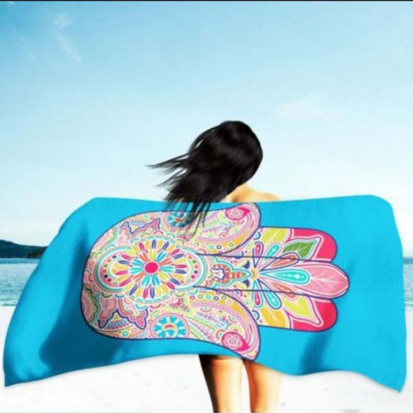 Turkish Hand Microfiber Beach Towel 180 x 100 cm