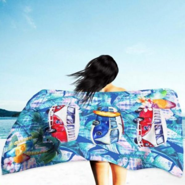 Toalha de Praia Microfibra Surf 180 x 100 cm