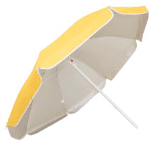 Guarda-Sol Poliéster Proteção UV 1,60 m Amarelo