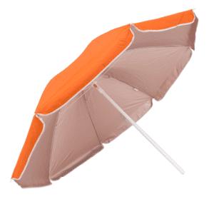 Guarda-Sol Poliéster Proteção UV 1,60 m Laranja