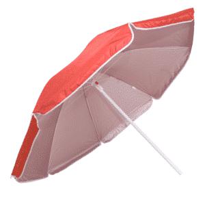 Guarda-Sol Poliéster Proteção UV 1,60 m Vermelho