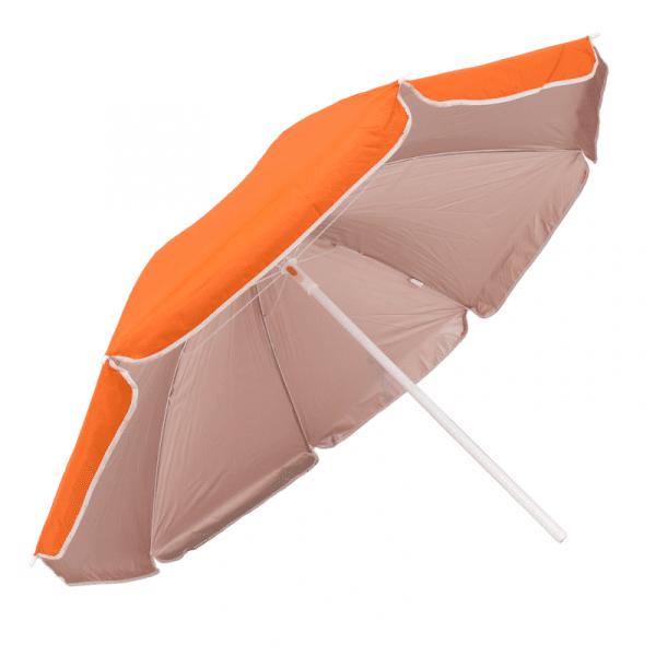 Guarda-Sol Poliéster Proteção UV 1,76 m Laranja